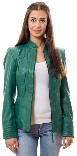 Annia grüne Damen Lederjacke von Trendzone