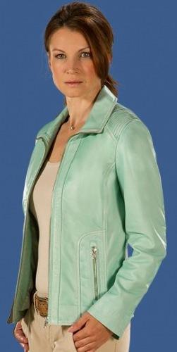 Lorella mint - farbene Lederjacke für Damen von DAVID MOORE