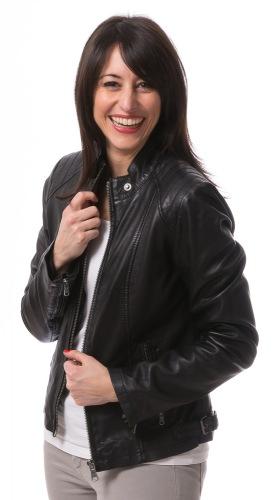 No.10 schwarze Damen Lederjacke von TRENDZONE