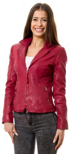 1708 rote Damen Leder Jacke von TRENDZONE