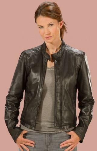 Livia schwarze Lederjacke für Damen von DAVID MOORE